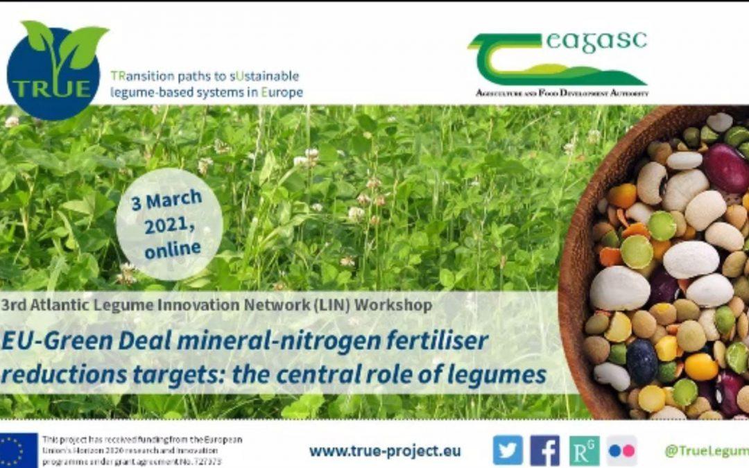 TRUE projekt – EU green deal – smanjenje upotrebe mineralnih gnojiva – glavna uloga leguminoza