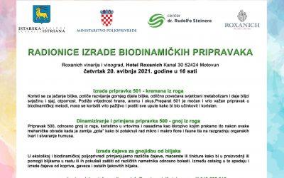 Najava RADIONICE – Istra 20.05.2021.