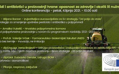 """Sudjelovanje na """"Konferenciji o upotrebi pesticida i antibiotika u EU poljoprivredi""""."""
