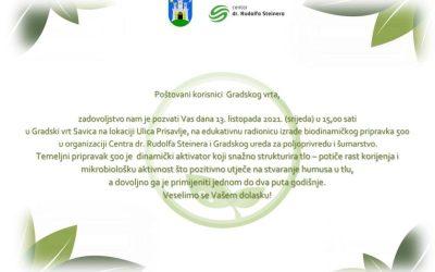 Edukativna radionica – Gradski vrtovi Zagreb, Borovje Savica